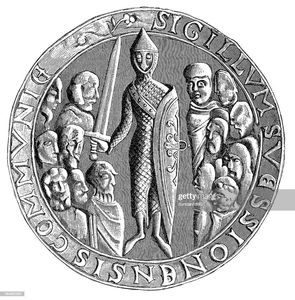 Seal of Soissons : stock illustration