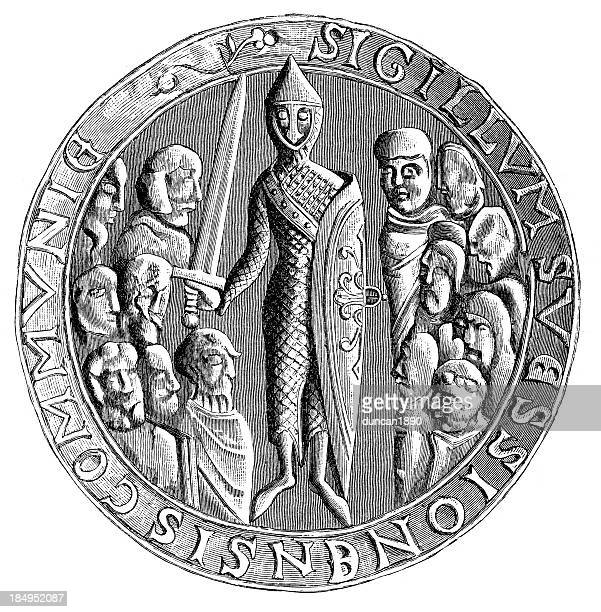 seal of soissons - great seal stock illustrations, clip art, cartoons, & icons