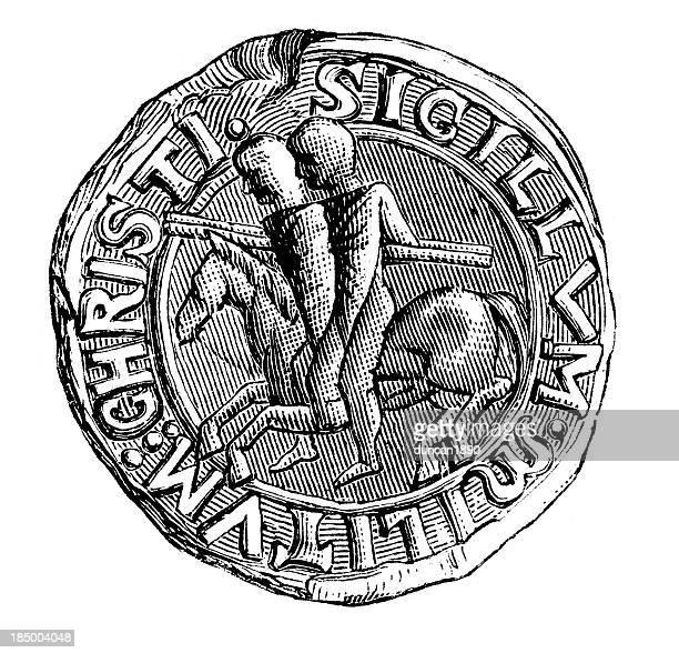 ilustrações, clipart, desenhos animados e ícones de colônia dos cavaleiros templários - great seal
