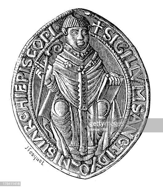 ilustrações, clipart, desenhos animados e ícones de colônia: abadia de st. denis - great seal