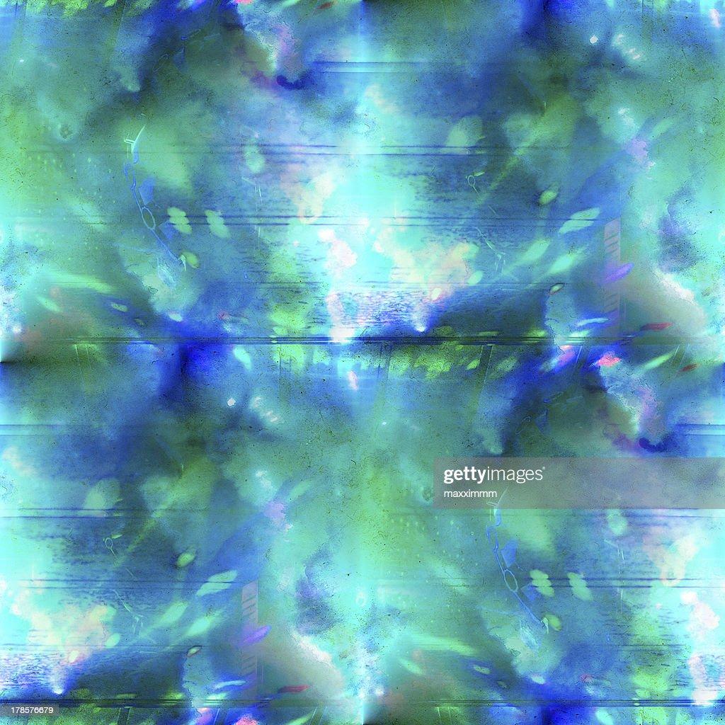 Nahtlose Abstrakte Kunst Aquarell Blau Grun Textur Hintergrund Stock Illustration Getty Images