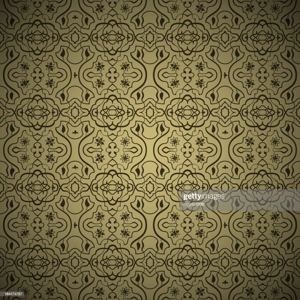 Seamless arabic gold pattern