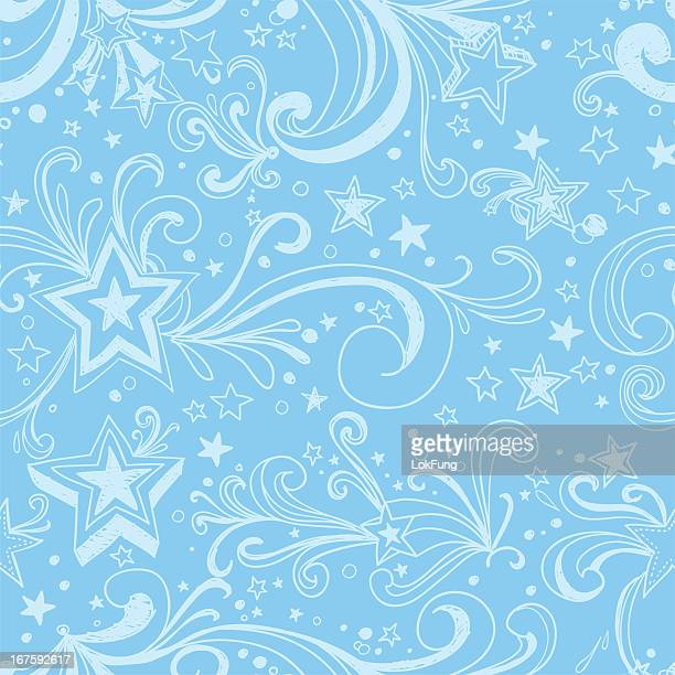 seamless background - ornate stars - bling bling stock illustrations, clip art, cartoons, & icons