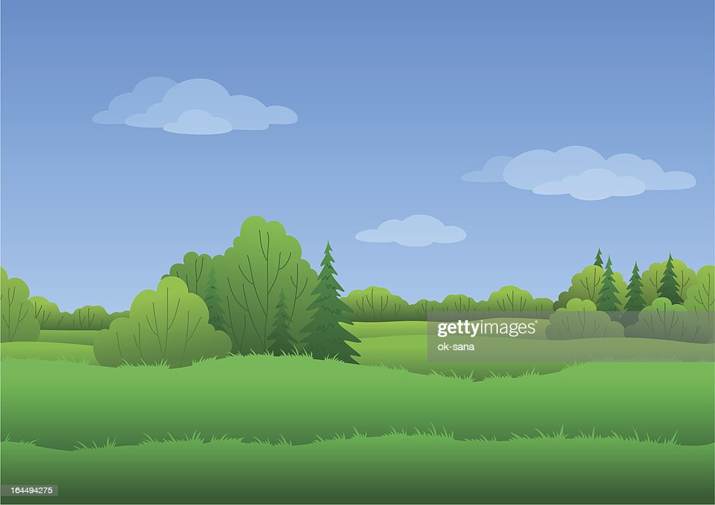 Seamless background, summer landscape