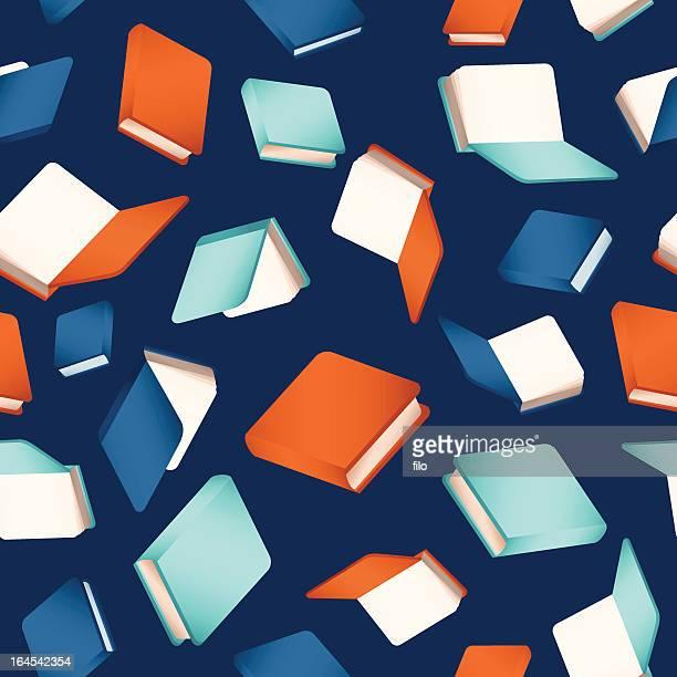 ilustraciones, imágenes clip art, dibujos animados e iconos de stock de seamless libros - actividad