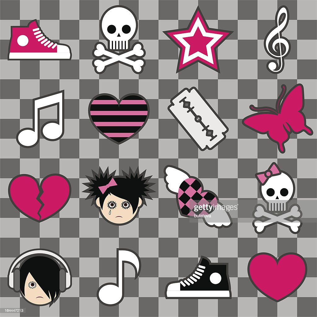 Seamless emo pattern