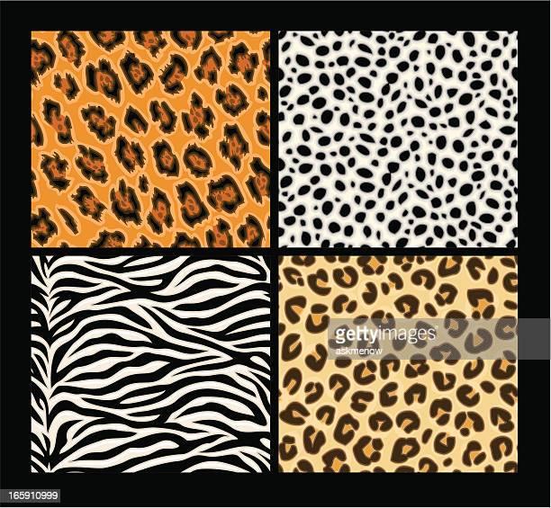 Seamless exotic animals skin patterns