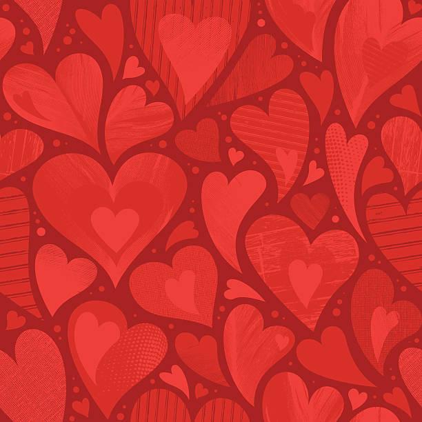 seamless heart textured background - heart shape stock illustrations
