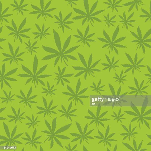 Seamless Marijuana Leaf
