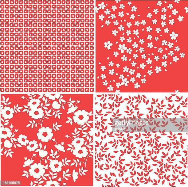 シームレスな折り紙風のパターン