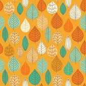 seamless pattern with leaf,autumn  background