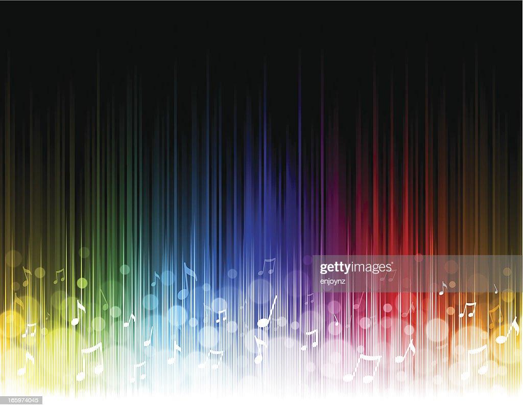 Seamless rainbow music background