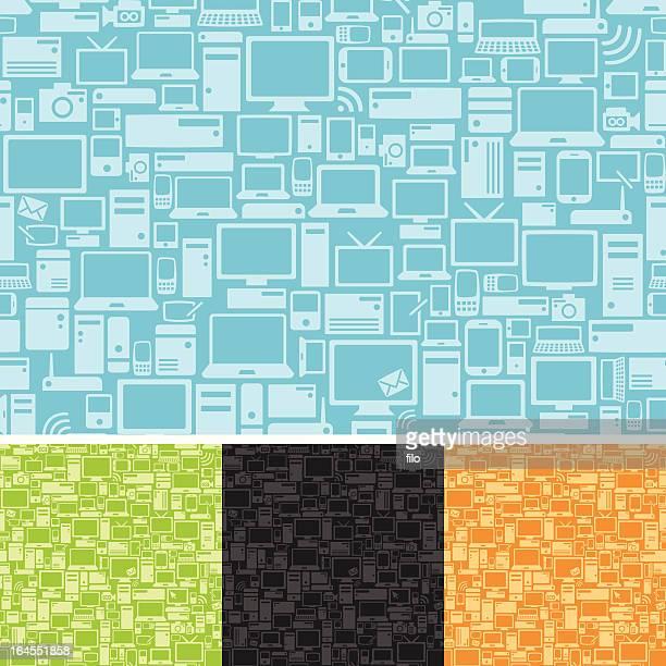 nahtlose tech-hintergrund - electronic organizer stock-grafiken, -clipart, -cartoons und -symbole