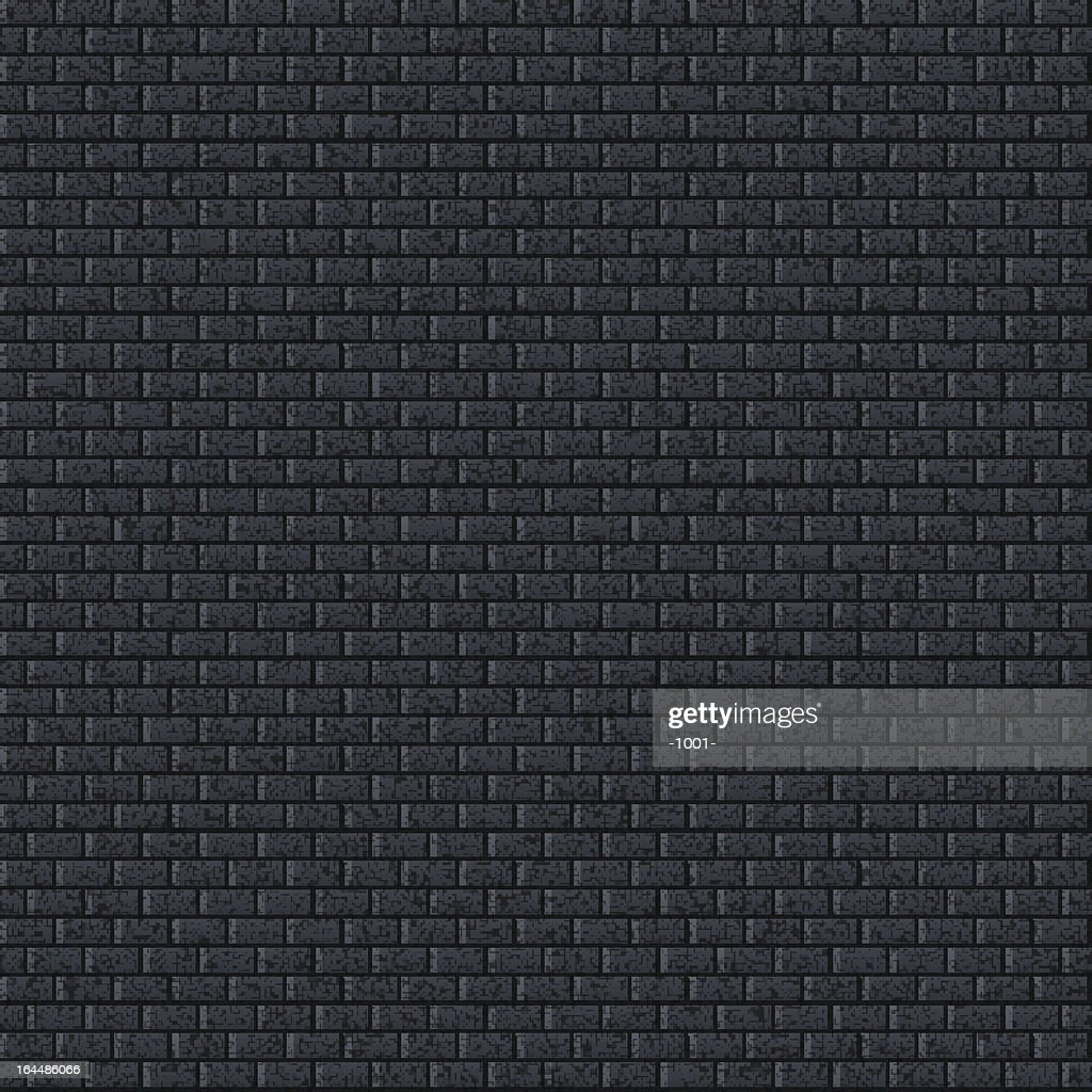 Seamless texture. 1 credits. Brick wall noise effect black background