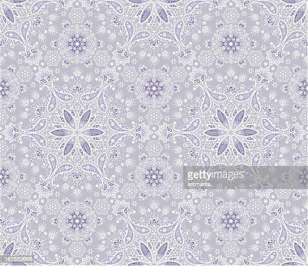 seamless winter paisley - iranian culture stock illustrations, clip art, cartoons, & icons
