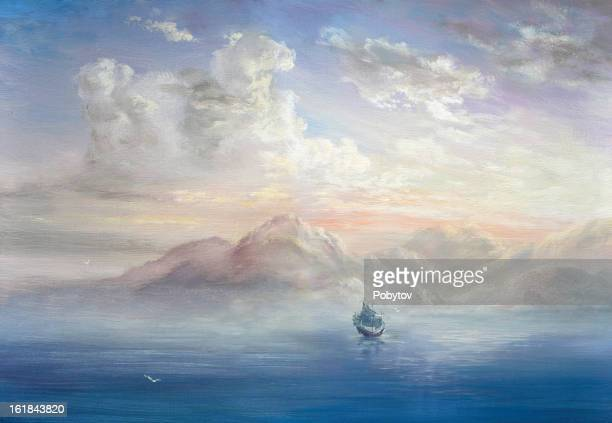 seascape - seascape stock illustrations, clip art, cartoons, & icons