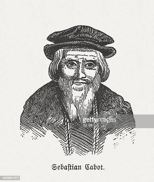 Sebastian Cabot (C.1474-c.1557), Italian explorer, wood engraving, published in 1884