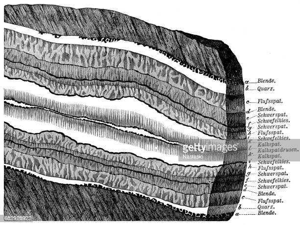 section of a terrain - geology stock illustrations, clip art, cartoons, & icons