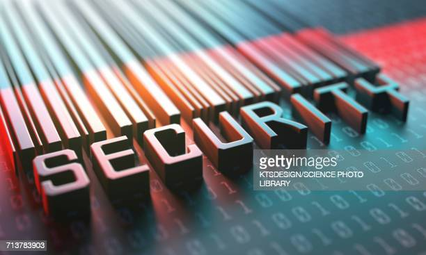 security barcode - capital letter stock illustrations