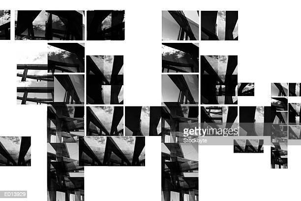 segmented pattern of photographs - 高架道路点のイラスト素材/クリップアート素材/マンガ素材/アイコン素材