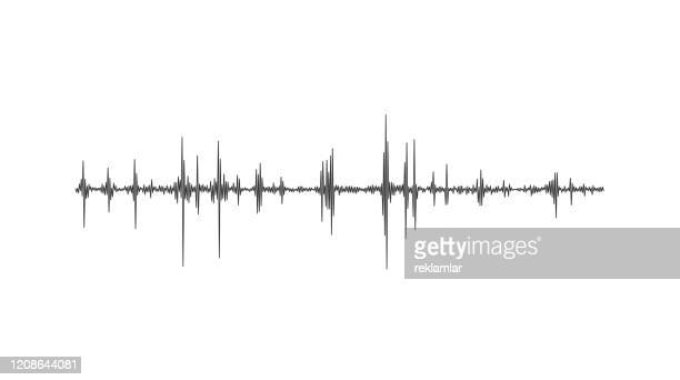 illustrazioni stock, clip art, cartoni animati e icone di tendenza di terremoto della macchina sismografica - frequenza