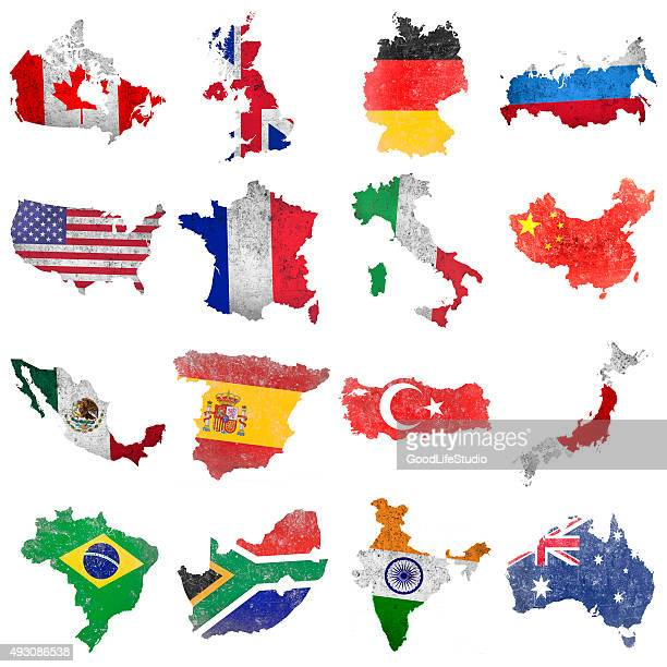 selection of world flags - national flag stock illustrations, clip art, cartoons, & icons