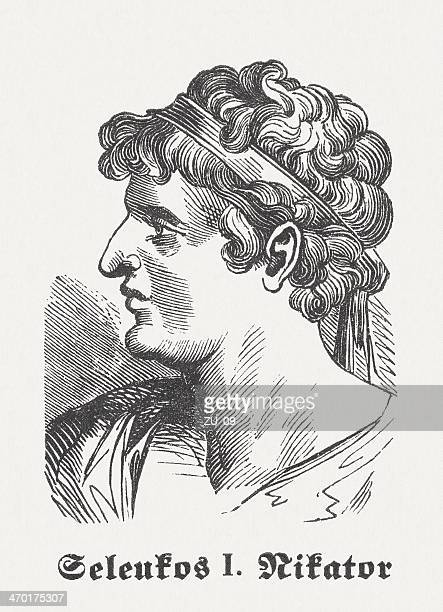 seleucus i nicator (c.358 bc-281 bc), macedonian commander, published 1864 - governmental occupation stock illustrations, clip art, cartoons, & icons