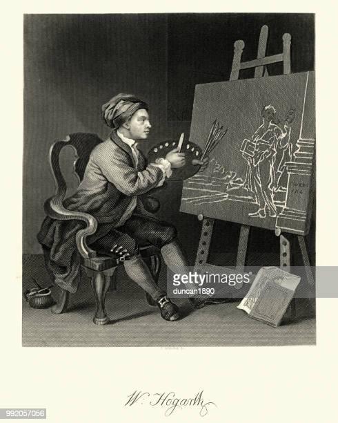 Self Portrait of the Artist  by William Hogarth