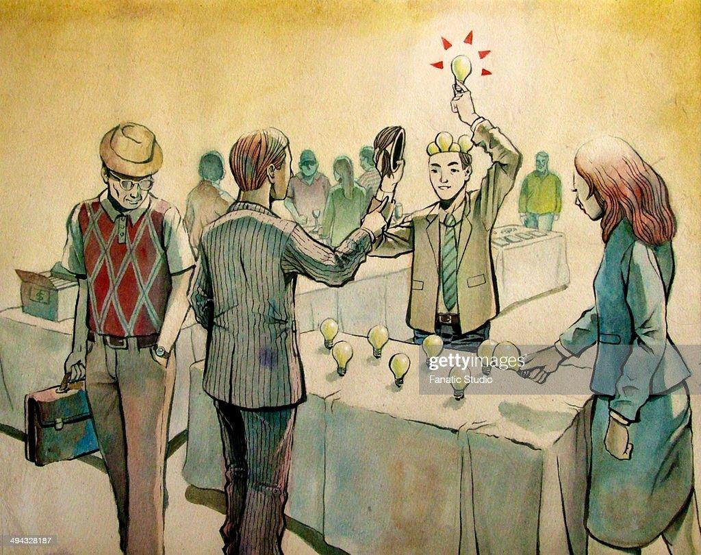 Selling ideas : Ilustración de stock