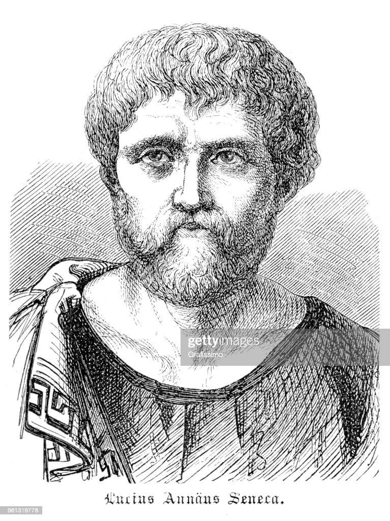 若いまたはルキウスアンナエウスセネカ ローマの哲学者セネカ : ストックイラストレーション