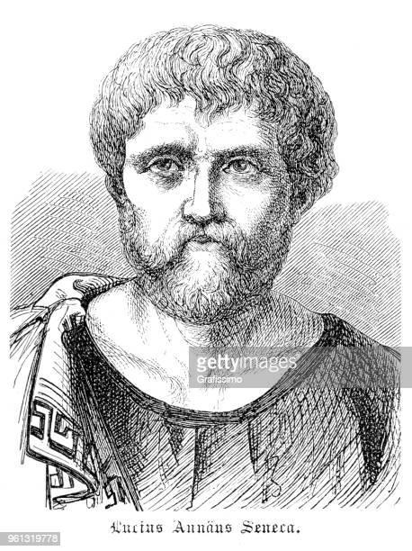 Seneca the Younger or Lucius Annaeus Seneca roman philosopher