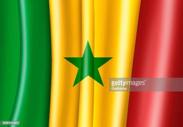senegal illustration of senegalese flag - senegal stock illustrations, clip art, cartoons, & icons