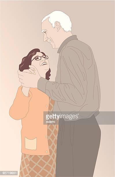 年配のカップル - 年配のカップル点のイラスト素材/クリップアート素材/マンガ素材/アイコン素材