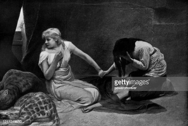 sentenced by gabriel von max - 19th century - roman gabriel stock illustrations
