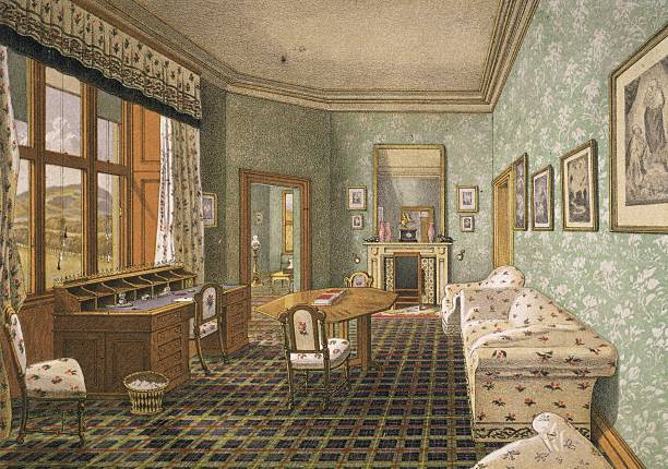The sitting room of Queen Victoria's consort, Prince...