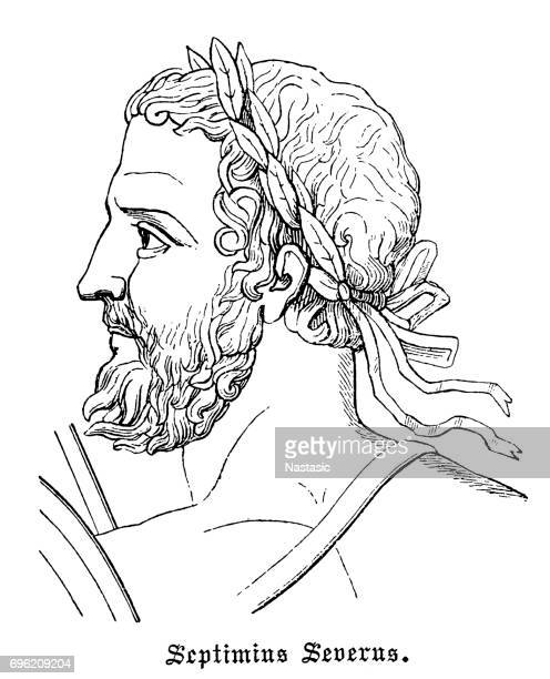 septimius severus (145-211), roman emperor - governmental occupation stock illustrations, clip art, cartoons, & icons