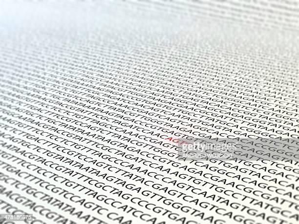 DNA sequence, artwork