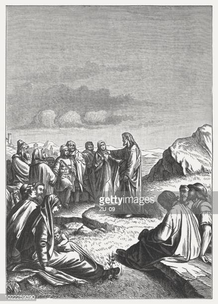 Sermon on the Mount (Matthew 5-7), wood engraving, published 1888