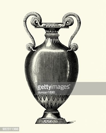 Serpent Style Mid Victorian Vase Stock Illustration Getty Images