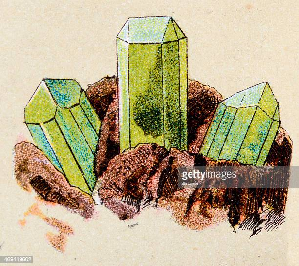 Serpentine, mineral stone antique illustration