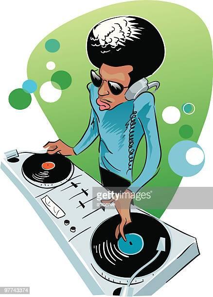 dj session - soundtrack stock illustrations, clip art, cartoons, & icons
