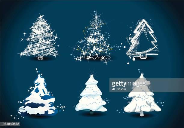 Set of 6 christmas trees