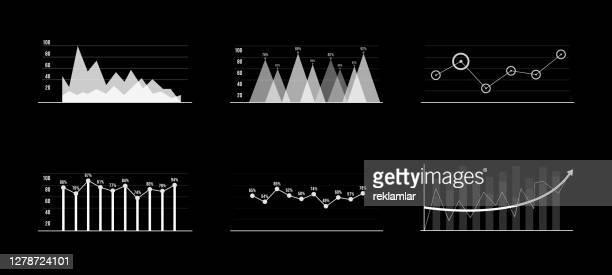 illustrazioni stock, clip art, cartoni animati e icone di tendenza di set di elementi infografici in bianco e nero. elementi di visualizzazione head-up per il web e l'app. interfaccia utente futuristica. grafica virtuale. hud - hud interfaccia grafica utente