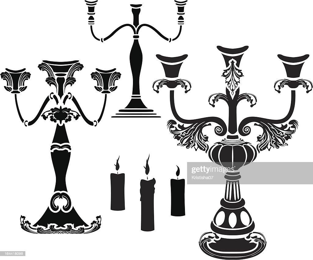 Set of candelabrum