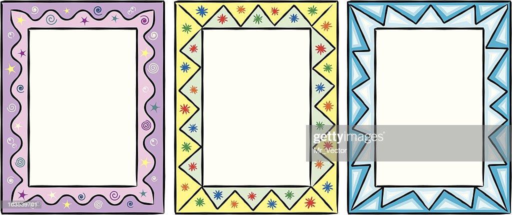 Set Of Original Funny Vector Decorative Frames Vector Art | Getty Images