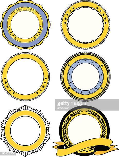 set of seals - authority stock illustrations