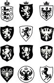 Set of shield heraldry