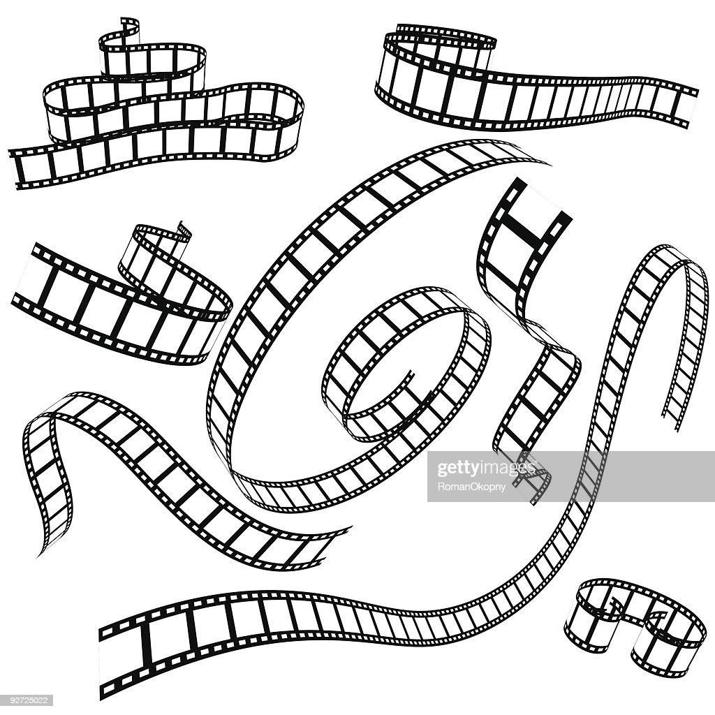 set of various film strips