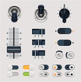 Set of vector illustration dials
