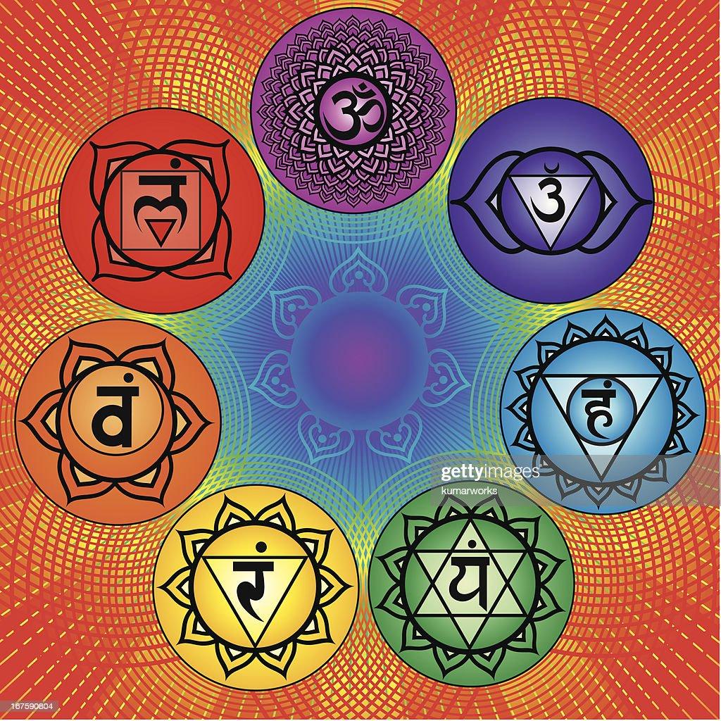 Seven chakra : stock illustration